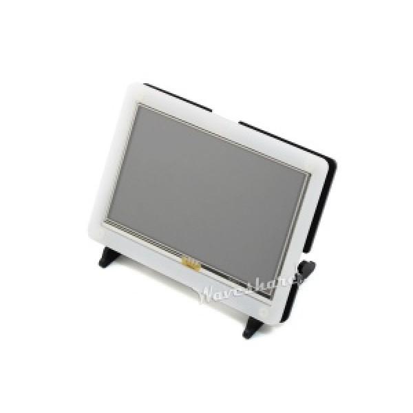 Waveshare 5 inch HDMI TFT-LCD Display 800*480 pixels met Touchscreen en Behuizing - Raspberry Pi Compatible