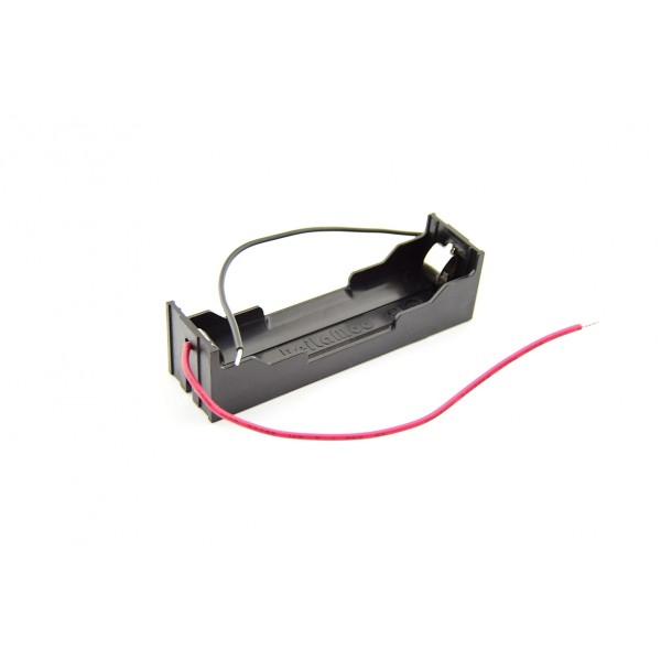 1x 18650 Battery Holder - Leaf Spring Contacts - Wires per Cell