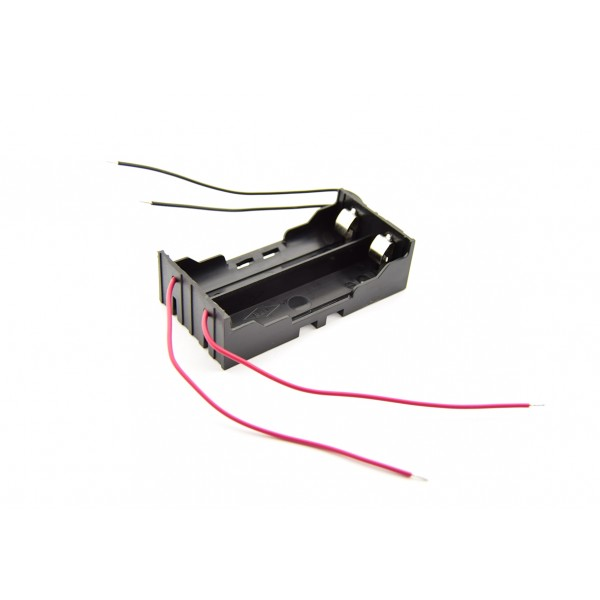 2x 18650 Battery Holder - Leaf Spring Contacts - Wires per Cell