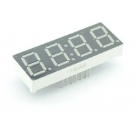 Segment Display - 4 Characters with dubble dot - Red