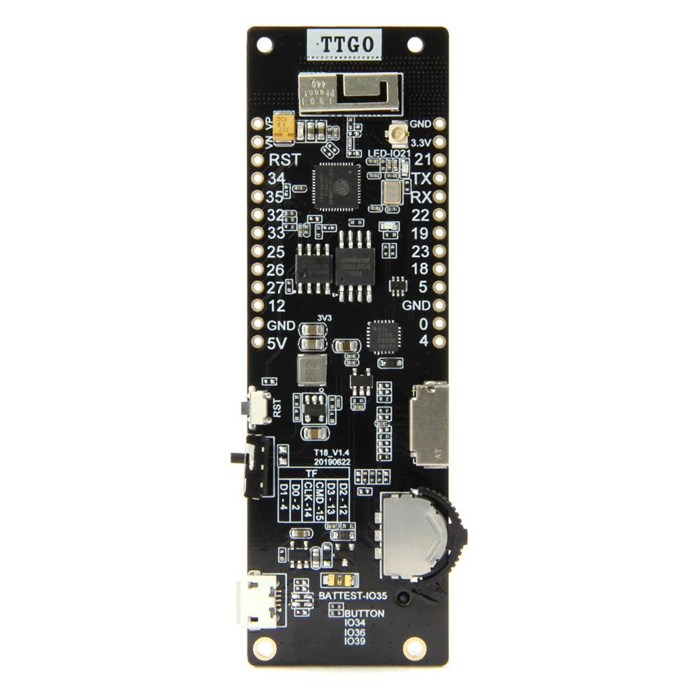 LilyGO TTGO T-Cell ESP32 - met 3-Way Knop en 18650 Batterijhouder