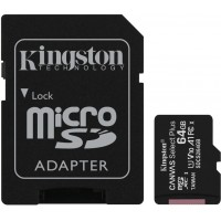 Kingston Canvas Select Plus 64GB Class 10 UHS-I A1 microSD card with SD-kaart adapter