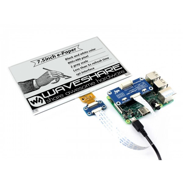 Waveshare 7.5 inch E-Ink E-Paper Display