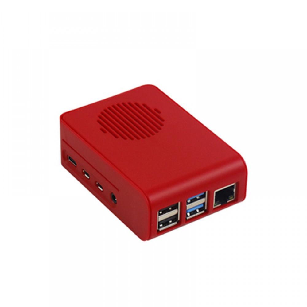 Raspberry 4 Behuizing met Ventilator - Rood