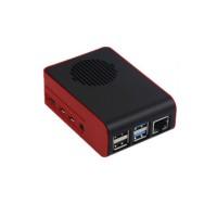 Raspberry 4 Behuizing met Ventilator - Rood-Zwart