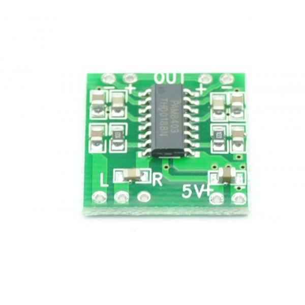 2x3W stereo audio versterker mini 5V PAM8403 Groen
