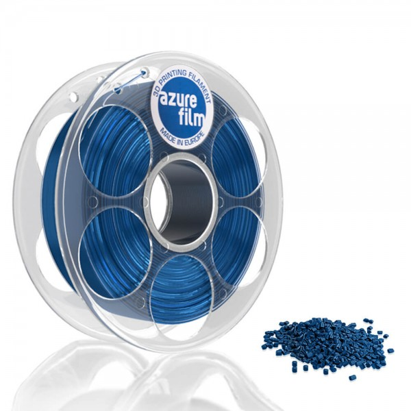 AzureFilm PLA Filament 1.75mm - 1kg - Blue Transparent