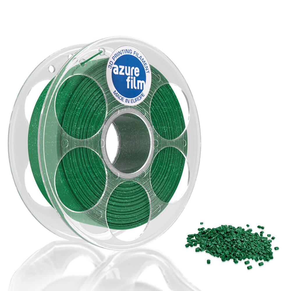 AzureFilm PLA Filament 1.75mm - 1kg - Groen Glitter