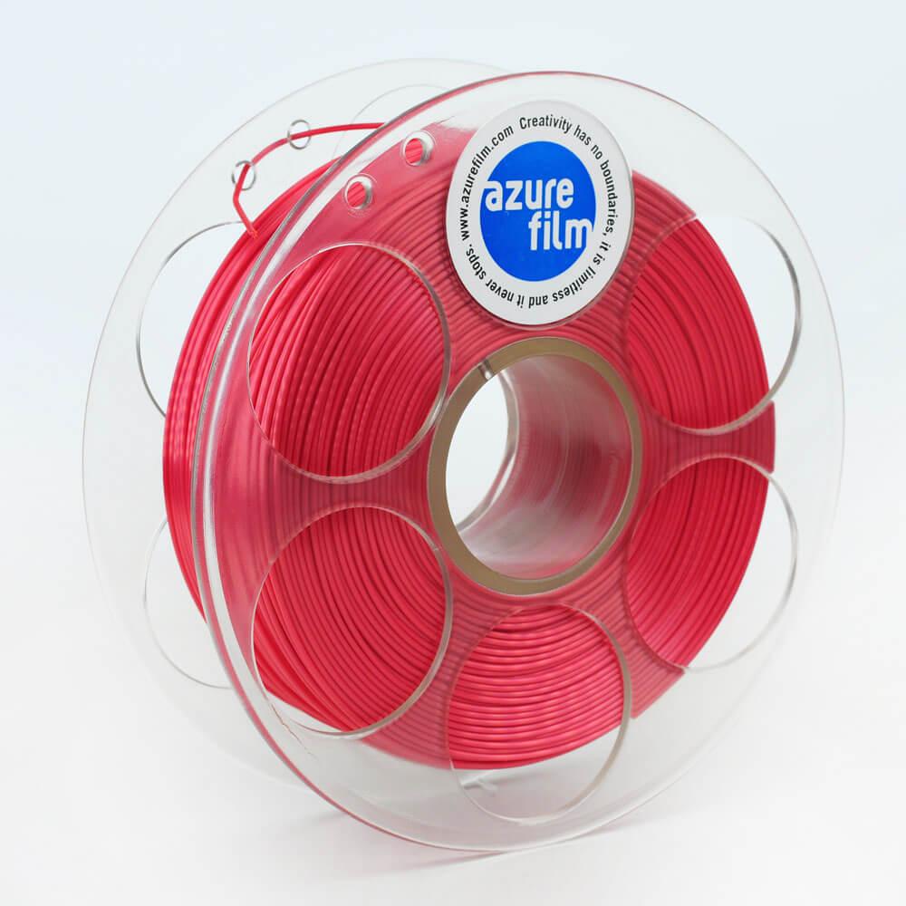 AzureFilm Silk Filament 1.75mm - 1kg - Rozen Rood