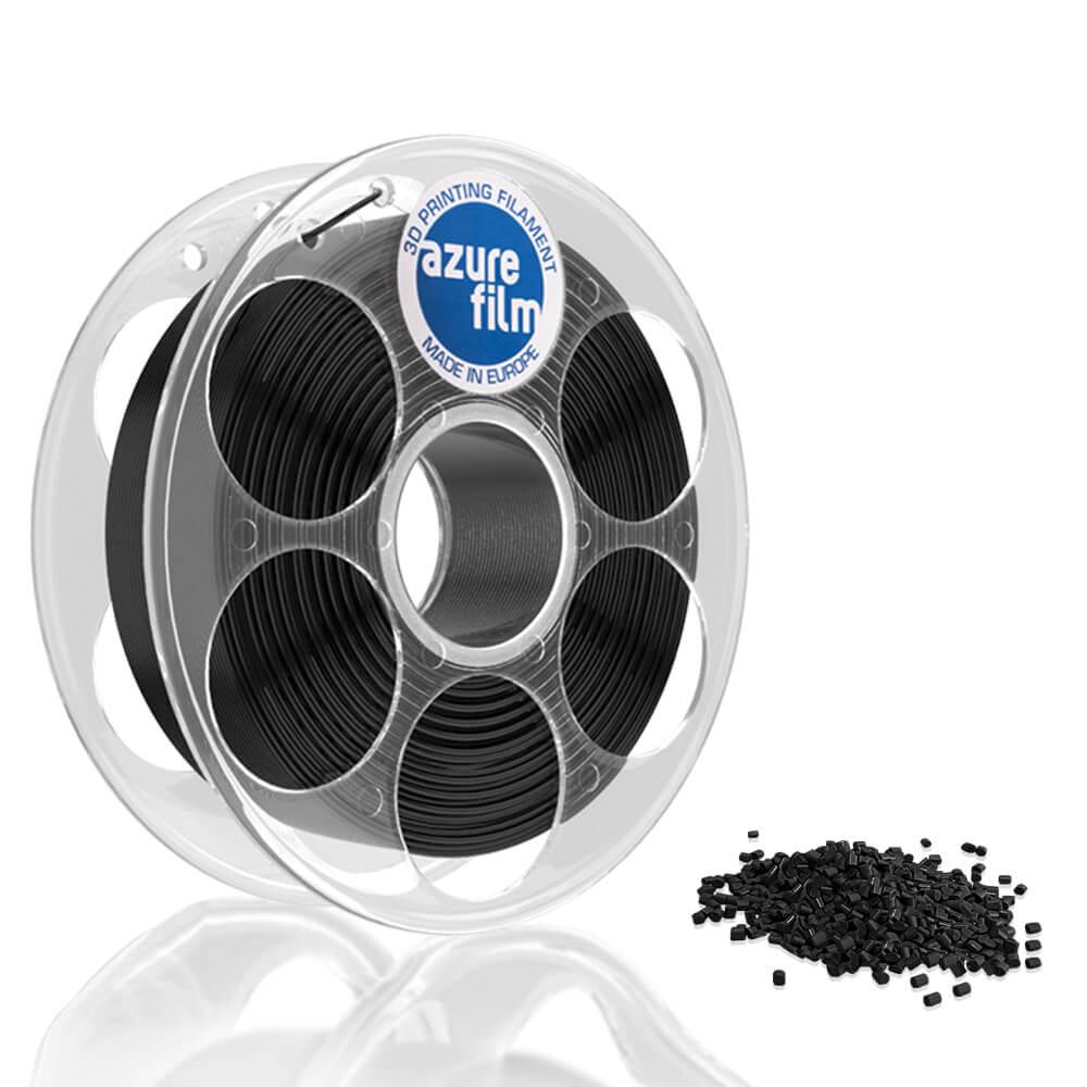 AzureFilm PETG Filament 1.75mm - 1kg - Zwart