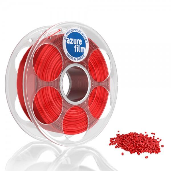 AzureFilm PETG Filament 1.75mm - 1kg - Rood Transparant