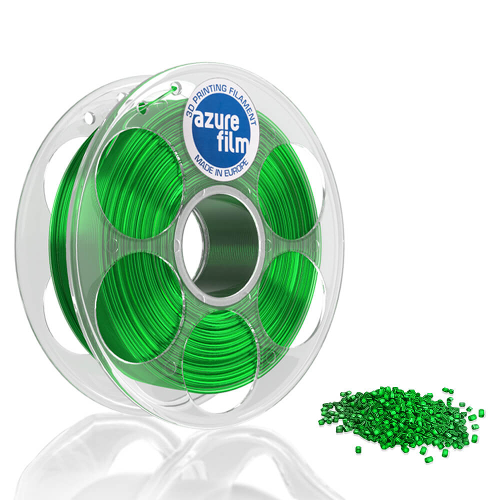 AzureFilm PETG Filament 1.75mm - 1kg - Green Transparent