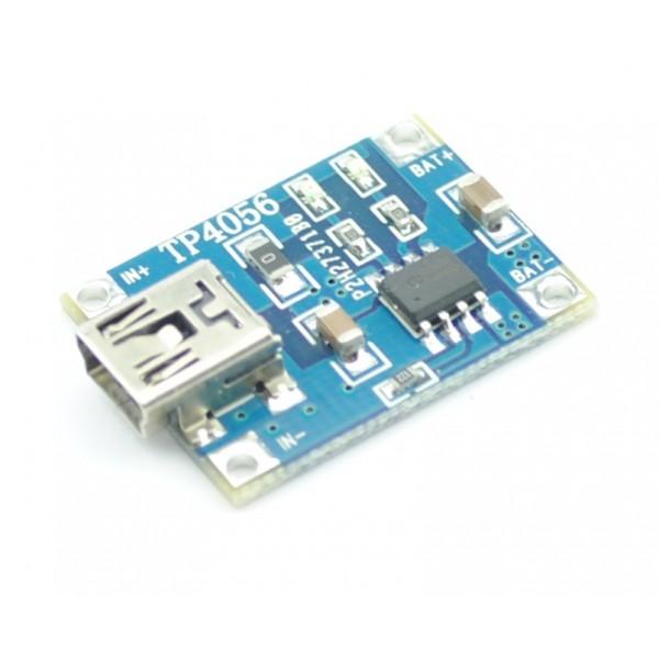 TP4056 Mini-USB Li-ion charger 1A