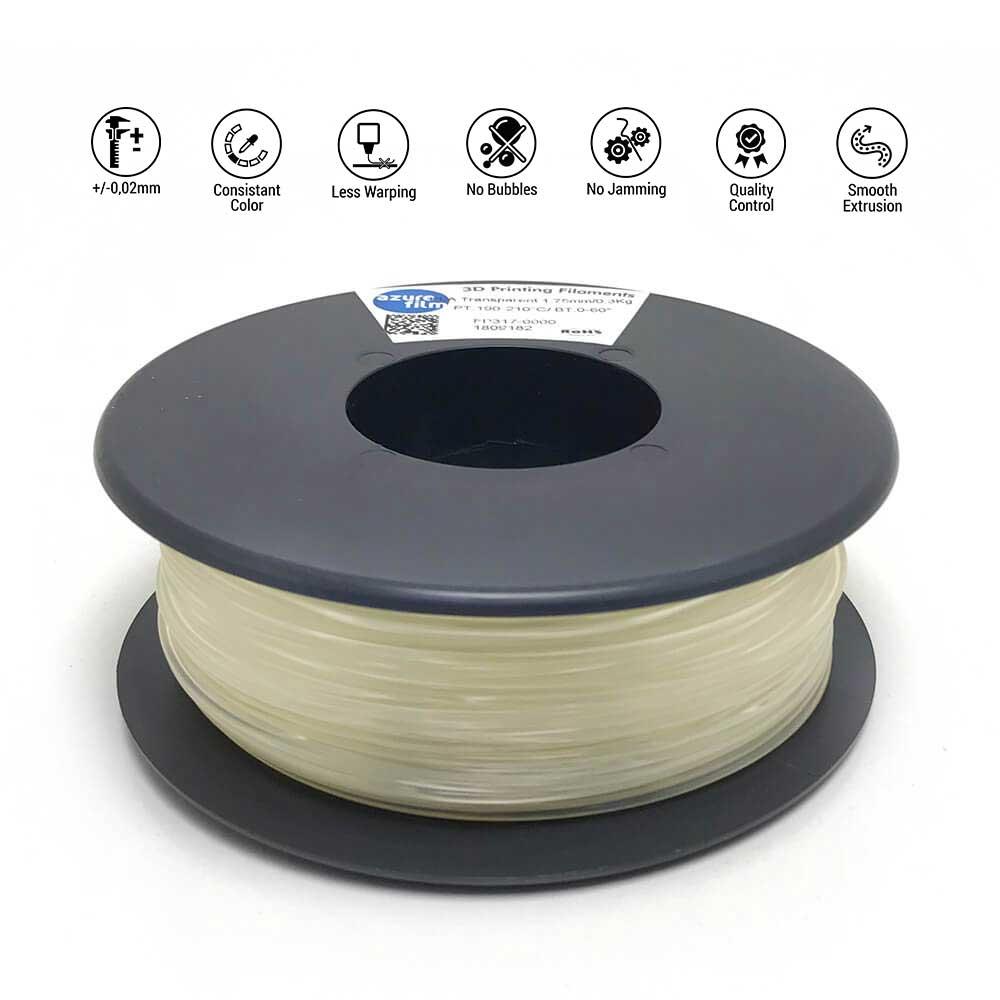 AzureFilm TPU 85A Filament 1.75mm - 300g - Transparant