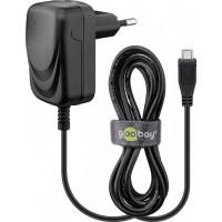 Goobay 49529 Micro USB Voeding - 5V 1A - Zwart