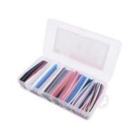 Heat Shrink Tubing Kit in Box - Coloured - 170 Pieces