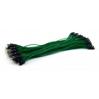 DuPont Jumper wire Male-Male 20cm 100 wires - Green