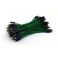 DuPont Jumper wire Male-Male 10cm 100 wires - Green