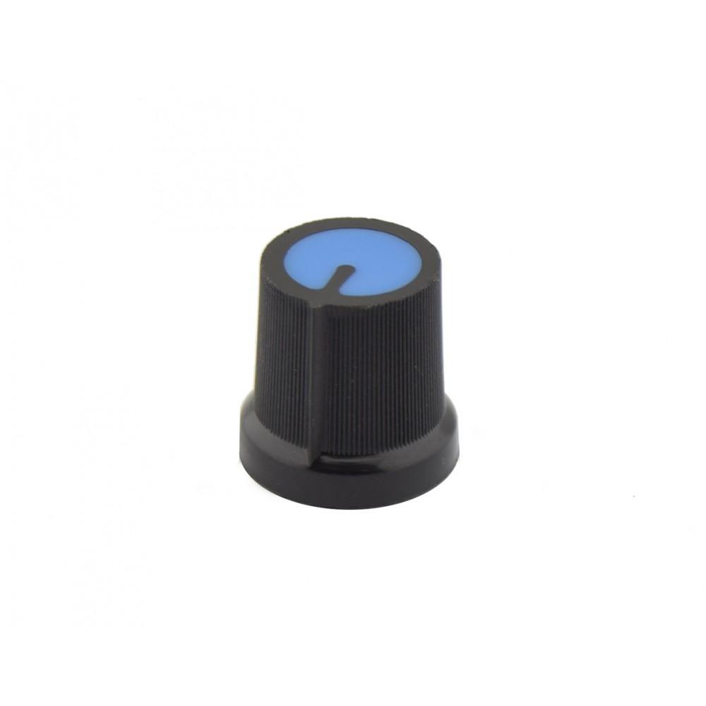 Potentiometer Knob Black-Blue Flat