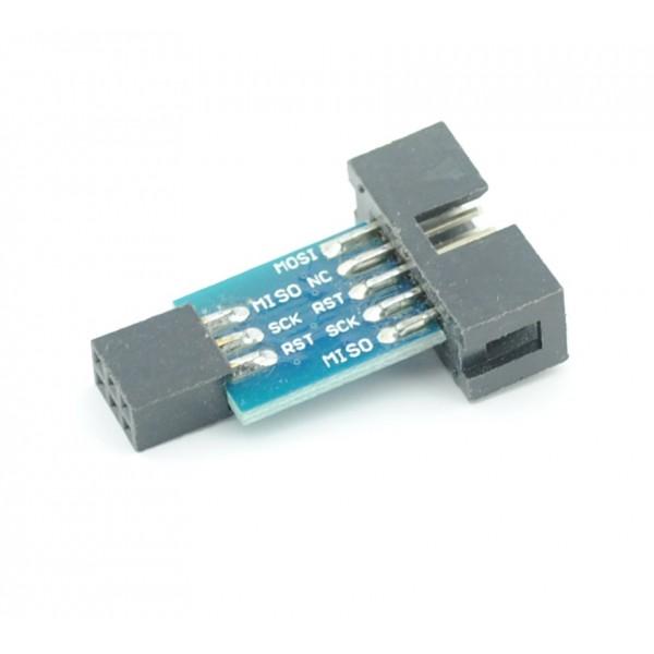 6-pin naar 10-pin verloop voor AVR programmer