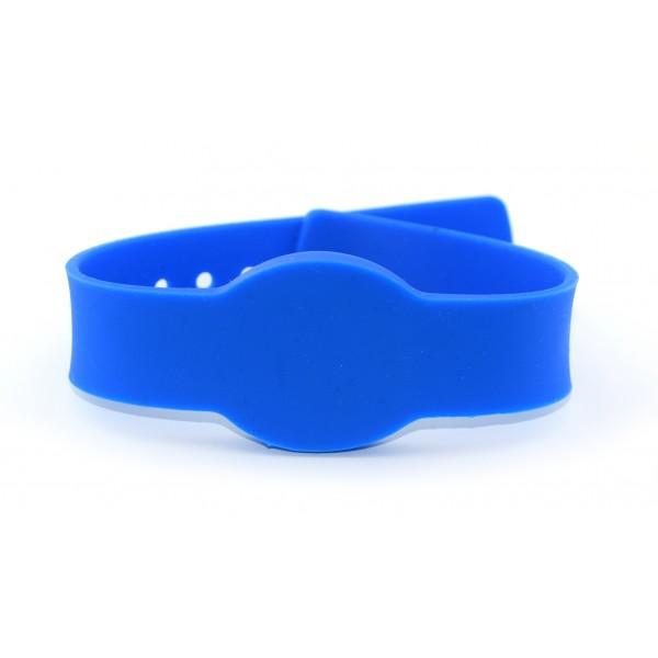 RFID Polsband - TK4100 125kHz - Drukknoopsluiting - Blauw