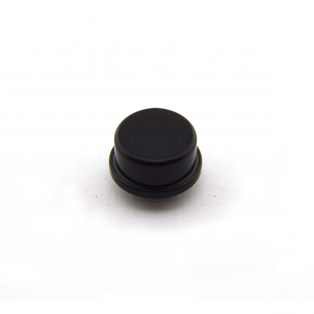 Knopkapje voor Tactile Pushbutton Switch Momentary - 12x12x7.3mm - Zwart