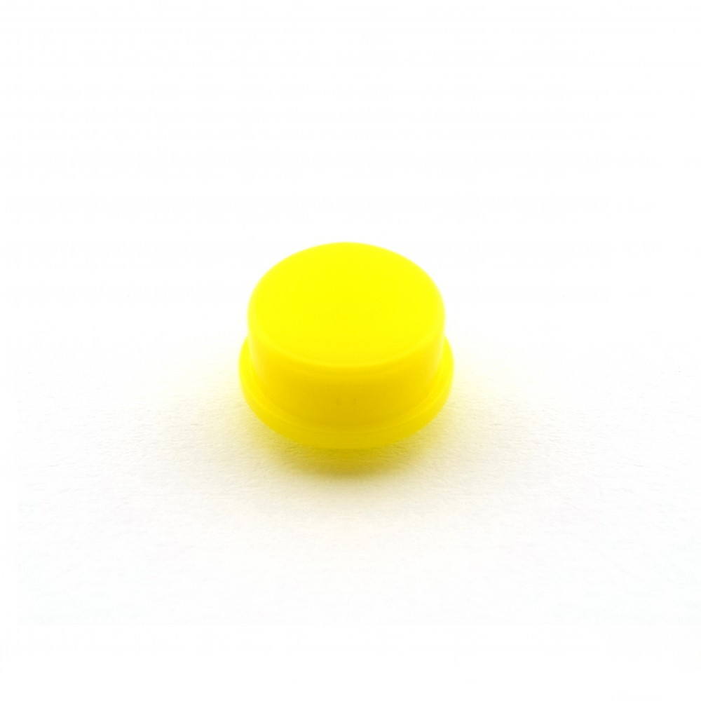 Knopkapje voor Tactile Pushbutton Switch Momentary - 12x12x7.3mm - Geel