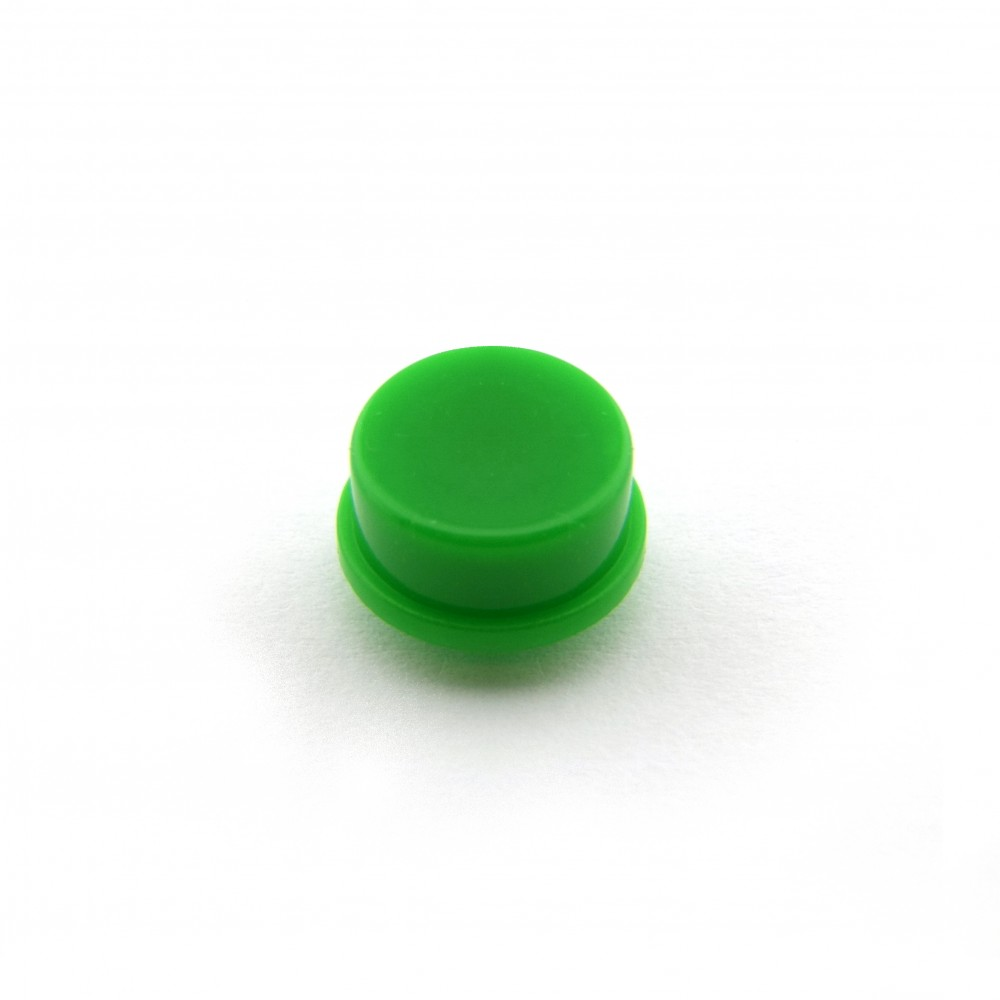 Knopkapje voor Tactile Pushbutton Switch Momentary - 12x12x7.3mm - Groen