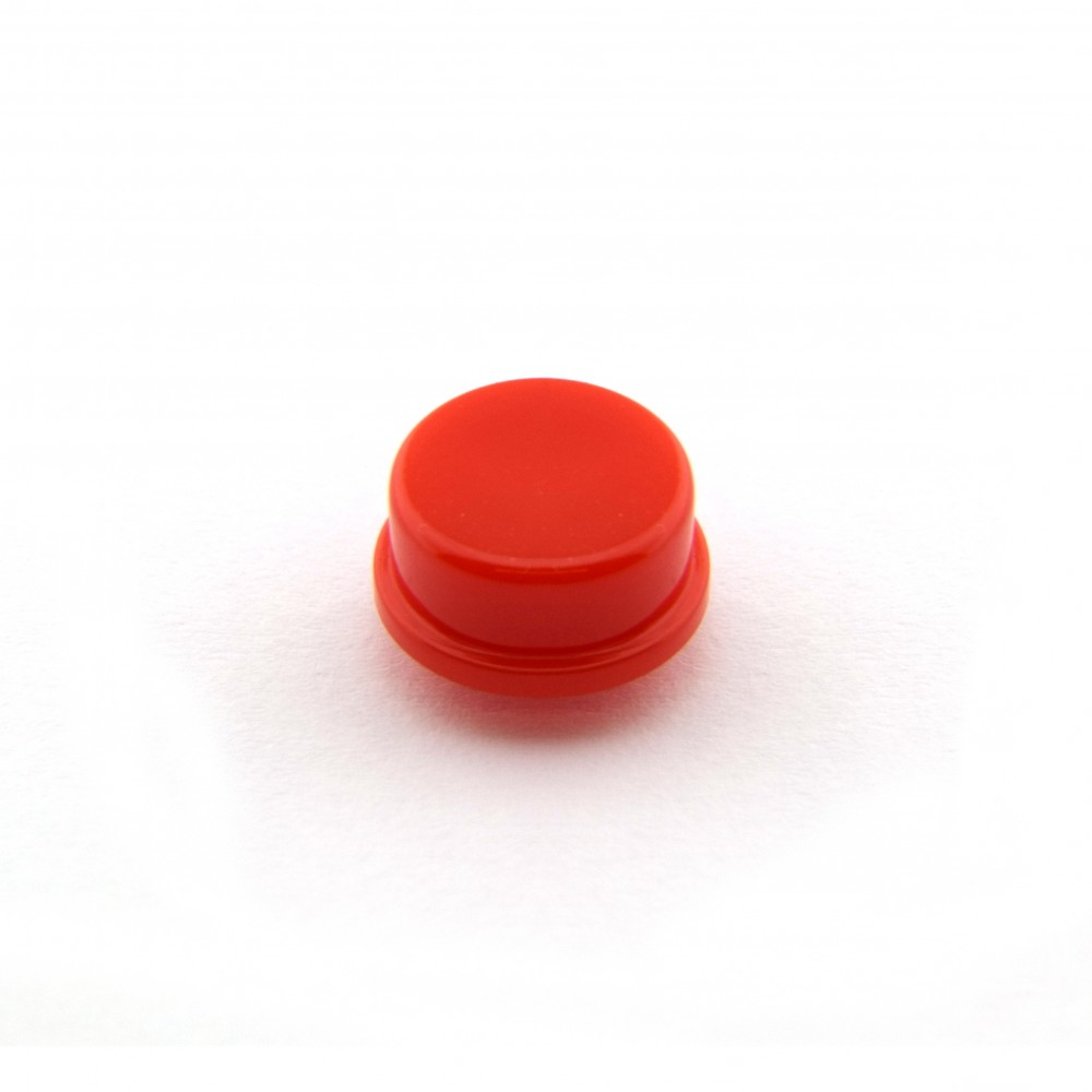 Knopkapje voor Tactile Pushbutton Switch Momentary - 12x12x7.3mm - Rood