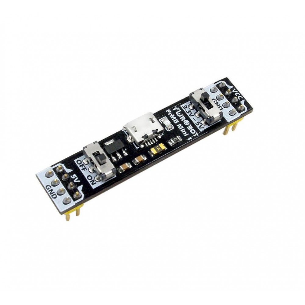 YwRobot PrMB Mini 1 - 5V en 3.3V Breadboard Voeding - Micro USB