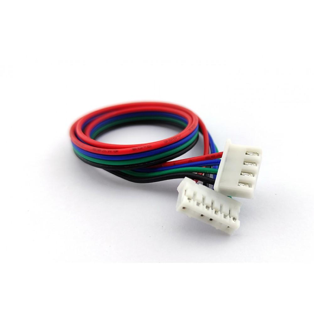 Kabel voor Stappenmotor 4 pin JST-XH naar 6 pin JST-PH Motoraansluiting - 30cm