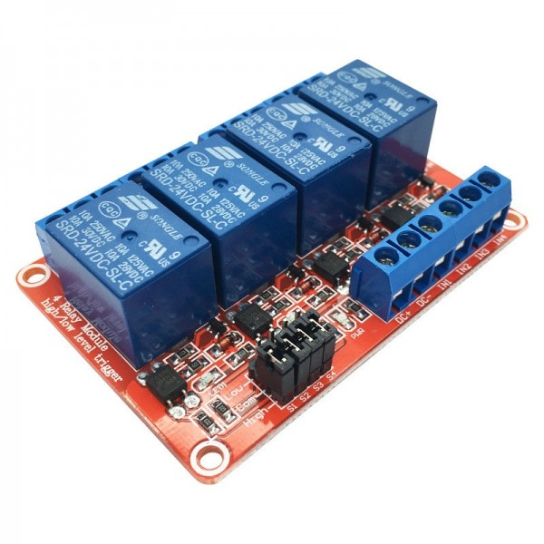 5V Relay 4-Channel High-active or Low-active