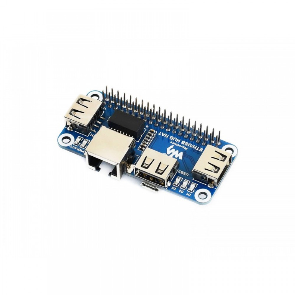 Waveshare Ethernet en USB HAT voor Raspberry Pi