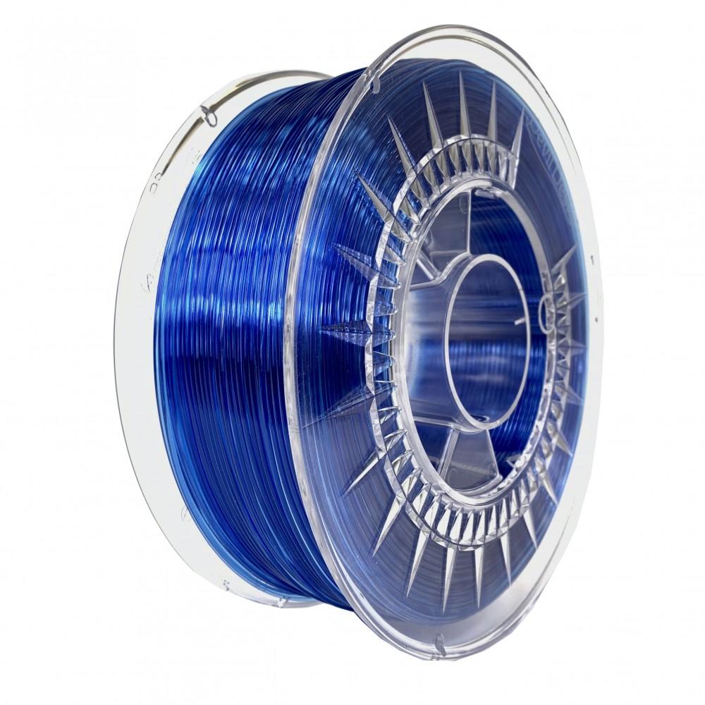 Devil Design PETG Filament 1.75mm - 1kg - Super Blauw Transparant
