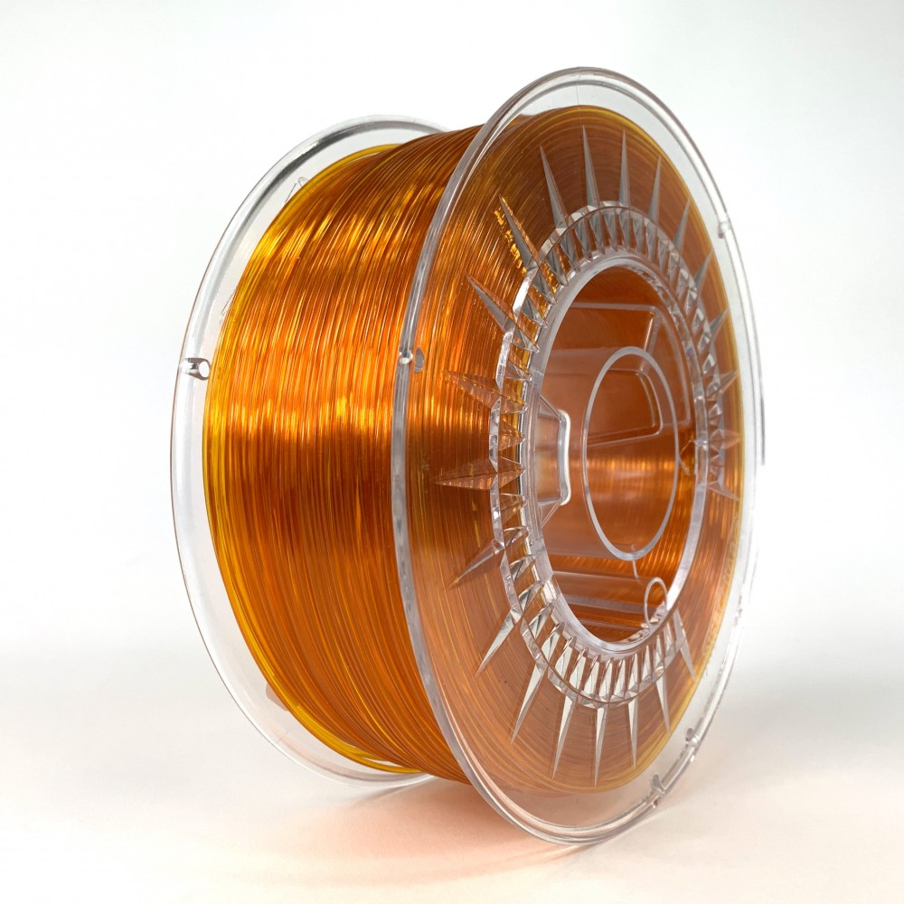 Devil Design PETG Filament 1.75mm - 1kg - Bright Orange Transparent