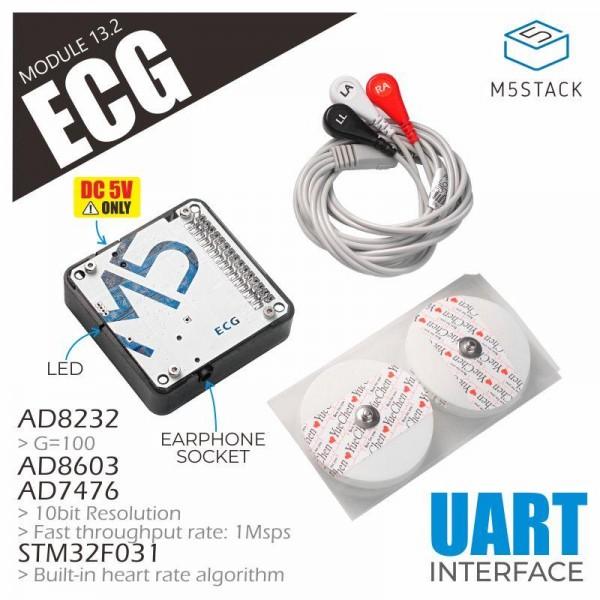 M5STACK ECG Module 13.2 - voor M5Core
