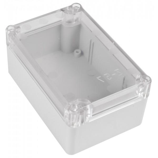 Kradex Enclosure 118x78x55mm - IP65 - Grey - Transparent - Z57JPH TM ABS