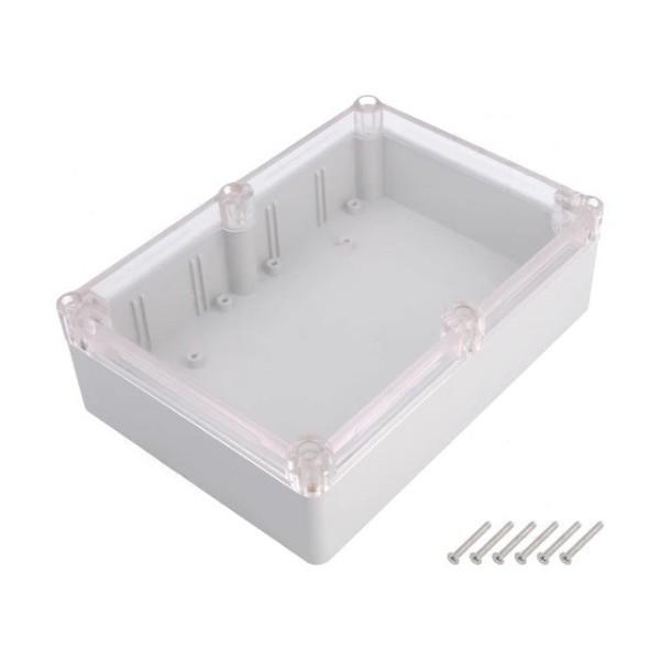 Kradex Enclosure 176x126x57mm - IP65 - Grey - Transparent - Z74JPH TM ABS