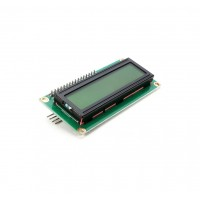 LCD Display 16*2 characters with black text and green-yellow backlight - With I2C Backpack