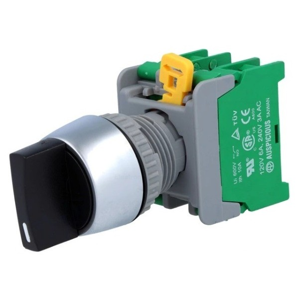 Auspicious Selector Switch - Rotary Switch - 3 Positions - Black