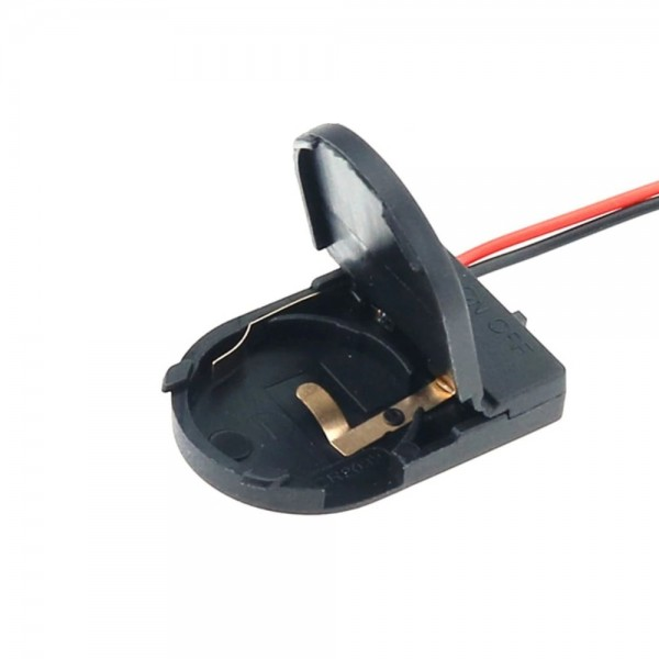 1x CR2032-LIR2032 Battery Holder with Loose Wires and Switch