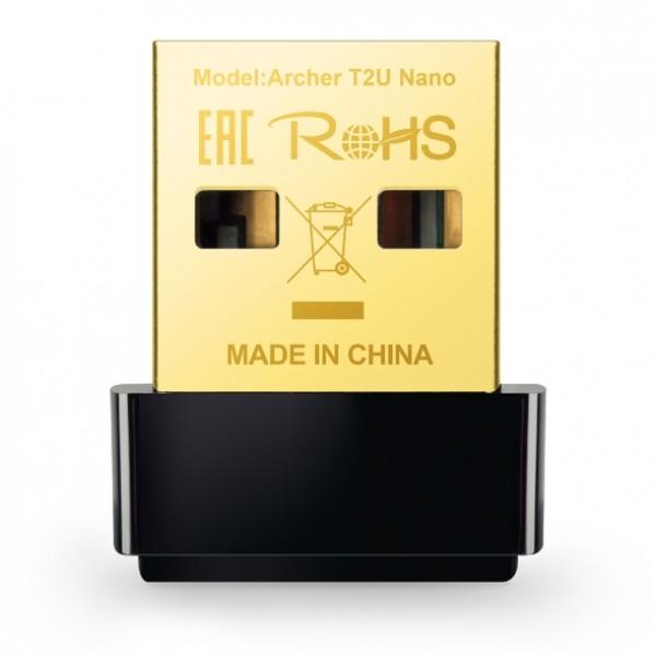 TP-Link AC600 Archer T2U Nano - Wireless Dual-Band USB-Adapter