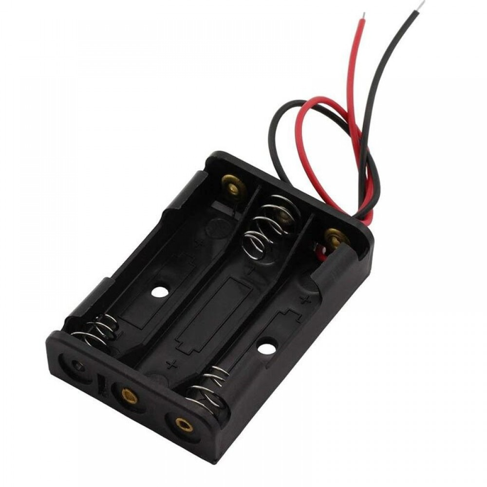 3x AAA Battery Holder with Loose Wires
