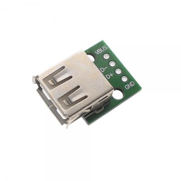 USB-A 2.0 Female naar DIP Adapter