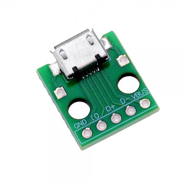 Micro USB 2.0 Female naar DIP Adapter