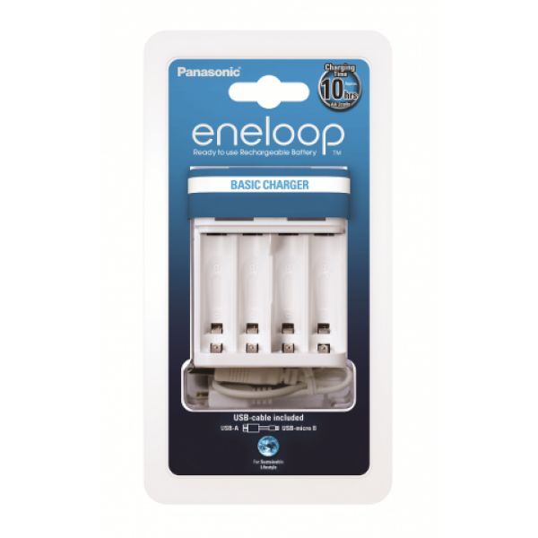 Panasonic Eneloop BQ-CC61 - USB Battery Charger - for AA and AAA Batteries