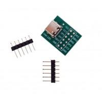 USB-C 2.0 Female naar DIP Adapter - Inclusief Headers