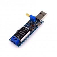 USB Verstelbare DC-DC Converter 3W - met Spanningsmeter