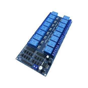 12V Relais 16-Channel Laag-actief - met LM2596 Step-down Buck Converter