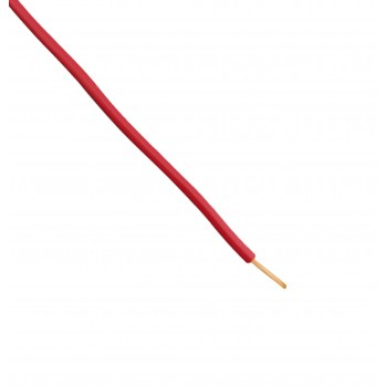 Wire - Single core - Flexible - Ø2.15mm 0.5mm2 - Red - 1m